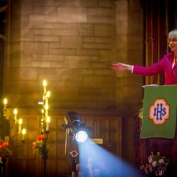BBC's Louise Minchin leads festive cheer at Claire House Carols & Candles