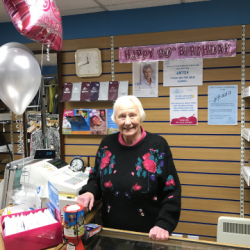 Ninety years young - Claire House volunteer