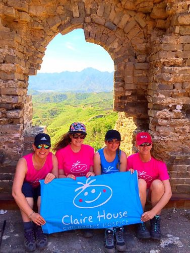 Claire House Heroes at the Great Wall