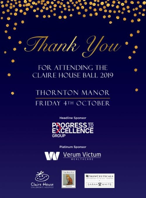 Claire House Ball Sponsors