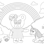 Claire Bear Colouring Pages